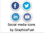 Social media and email icons